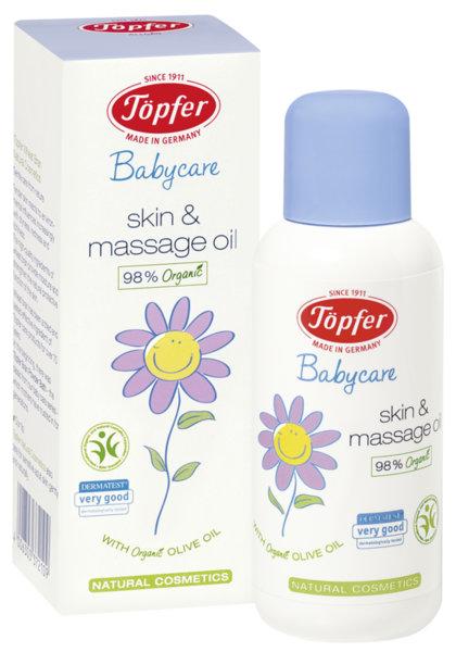 Topfer Бебешко олио за тяло и масаж (пш.трици, жожоба и зехтин) 100 мл.